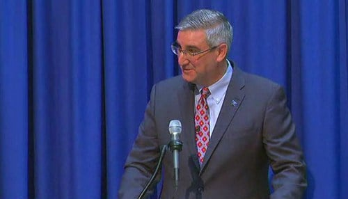 "Holcomb says he hopes the state can serve as an example of ""fair chance"" hiring."