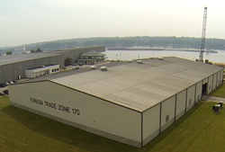 (Image of FTZ building at the Port of Indiana-Jeffersonville courtesy of the Ports of Indiana.)