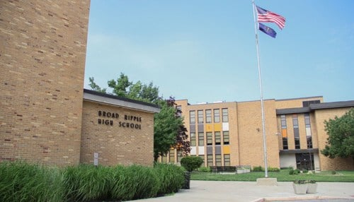 Under school board-approved plans, the Broad Ripple High School property will be put up for sale.