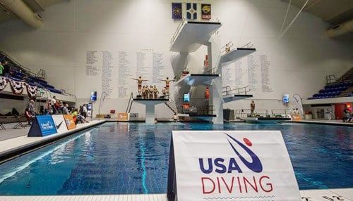 (Image courtesy of USA Diving) Pre-Olympic events will take place at the IU Natatorium located on the campus of IUPUI.