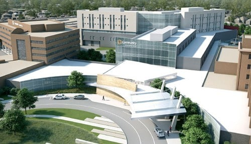 (Rendering of Community Hospital East provided by Community Health Network.)