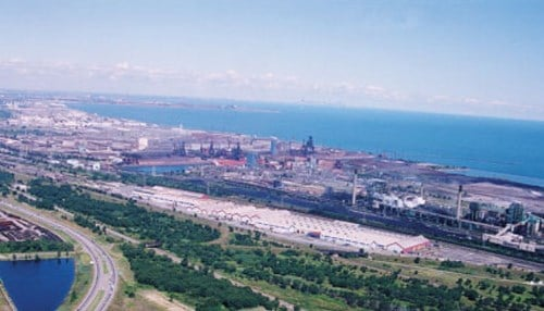 Gary Works (Image Courtesy of U.S. Steel) is the company's largest manufacturing operation.