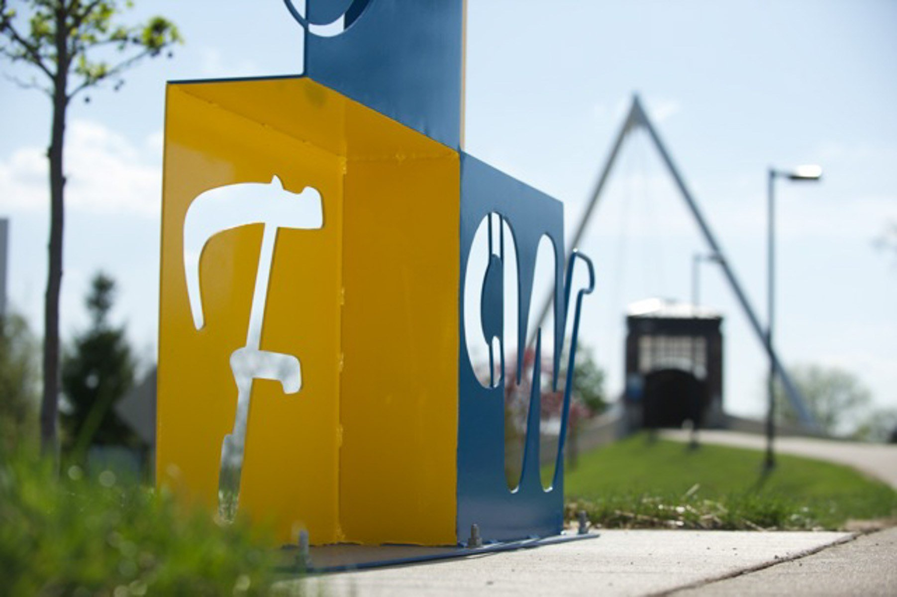 (Image of campus sculpture courtesy of IPFW.)