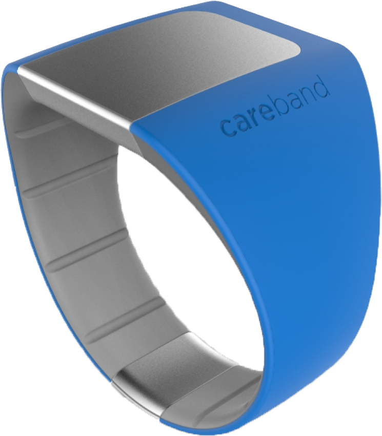 Sobol says the design of the safety bracelet will likely change as the product evolves.