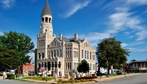 The Washington County Courthouse in Salem is on the 2016 list.