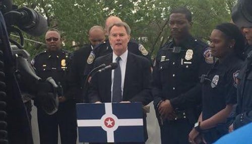 Hogsett has made completion of a new justice center one of his administration's priorities.