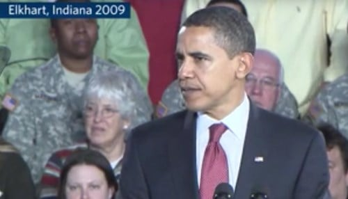 President Obama visited Elkhart in 2009.