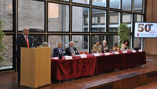 McRobbie marked the 50th anniversary of IU's partnership with the University of Bologna.