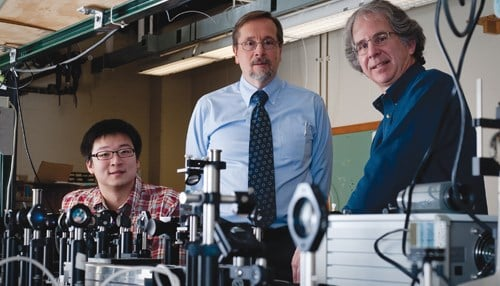 (Image courtesy of Purdue Research Foundation) Animated Dynamics co-founders from left-to-right: Ran An, John Turek and David Nolte