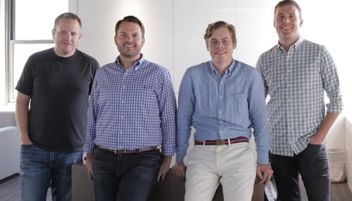 The Zylo team includes (from left-to-right): VP of Engineering Ryan Carroll, VP of Services Cory Wheeler, CEO Eric Christopher, VP of Product Ben Pippenger.