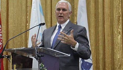 Pence will become vice president of the United States next month.