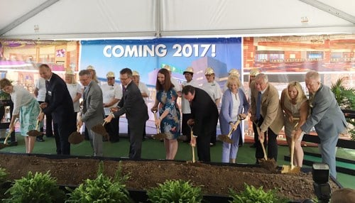 Officials broke ground on the land-based casino in July 2016.