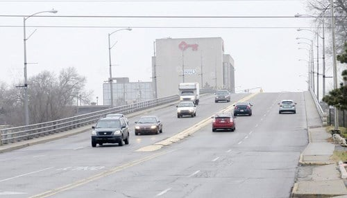 The Eisenhower Bridge was built in 1969 and suffered from structural problems. (photo courtesy of our partners at The Herald Bulletin)