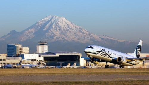 The airline says it now flies nonstop to 89 destinations from Seattle.
