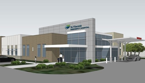 (Rendering of Emergency Center provided by St. Vincent)