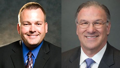Brent Yeagy pictured left and Dick Giromini pictured right.