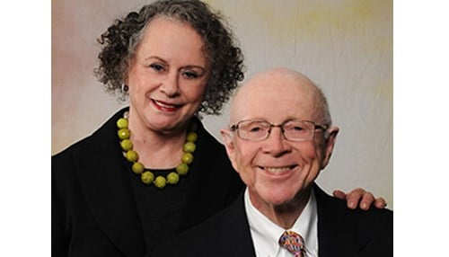 (Image of Joan and Bob McGrath supplied by the University of Notre Dame.)