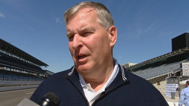 Former Indianapolis Mayor Greg Ballard at the tee-off event for the Indy Women in Tech Championship