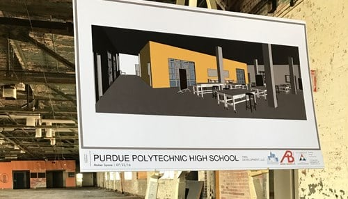 The school will eventually be located at the former PR Mallory site on the east side of Indianapolis.