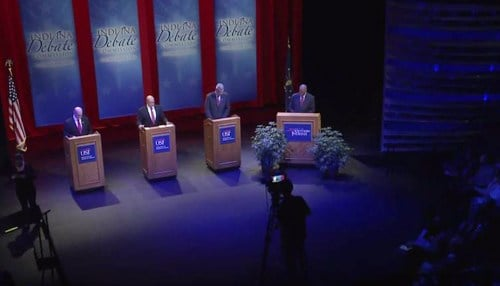 Holcomb, Gregg genial in final Indiana debate
