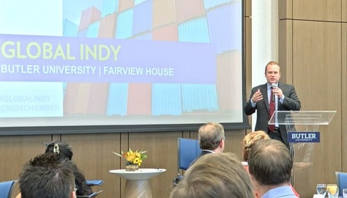 Indy Chamber President Michael Huber took part in a policy briefing today focusing on the TPP.