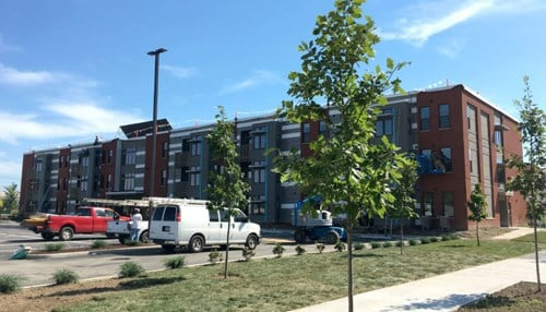 Oxford Place Senior Apartments are high-efficiency units on a former Superfund site.