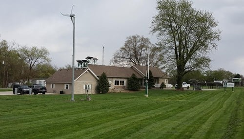 The Energy Center at Ivy Tech's Lafayette campus, where students learn about solar, wind, geothermal and other energies.
