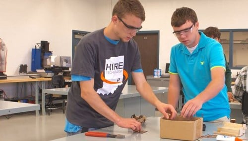 (Image of students in Hire Tech program courtesy of Conexus Indiana.)