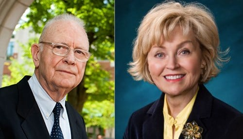 Lee Hamilton and Becky Skillman are co-chairs of the Indiana Bicentennial Commission.