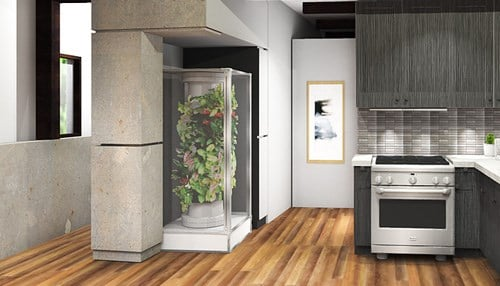 The appliance requires only an electrical outlet and has a standalone water system.
