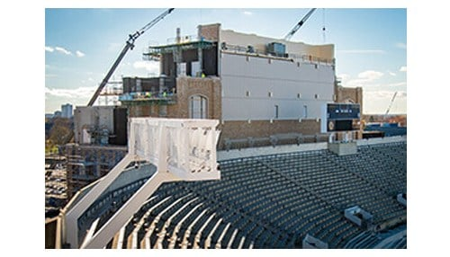 O'Neill Hall is being built into Notre Dame Stadium.