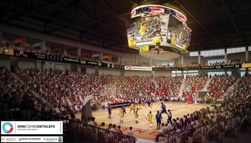Plans include office space for the Fort Wayne Mad Ants.