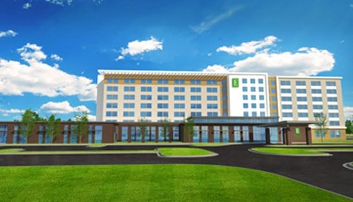 Construction on the Embassy Suites Hotel & Conference Center in Plainfield is expected to be complete in 2018.