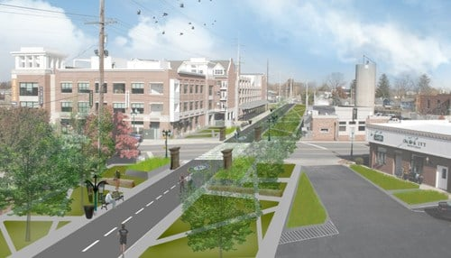Fishers Nickel Plate Trail Rendering (rendering courtesy of City of Fishers)