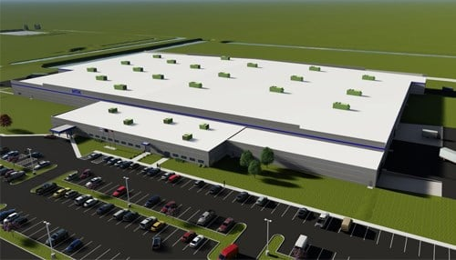 NTK Precision Axle Corp. announced plans for a new facility in March. (rendering courtesy NTK)