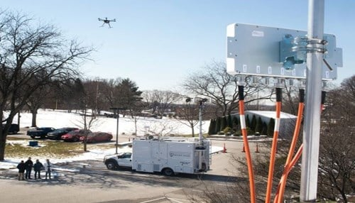 Image of next-generation wireless technology test provided by the city of South Bend.