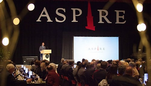 Details of the Aspire Campaign were announced Thursday by Chairman Greg Dosmann at a gala.