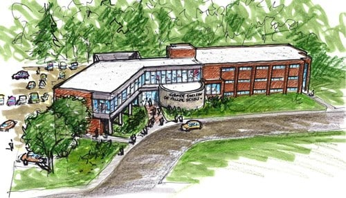 Rendering of Dane Miller Science Complex courtesy of Grace College.