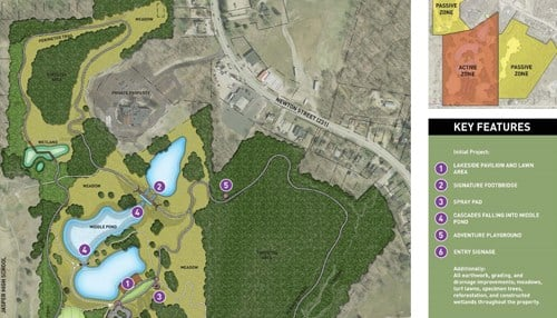 Much of the park will be on the former Jasper County Club golf course.