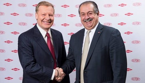 Edward Breen (left) is chief executive officer of DuPont and Andrew Liveris (right) is CEO of Dow.