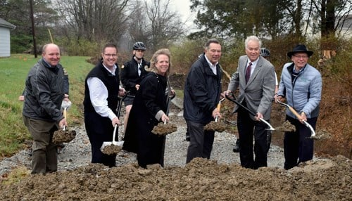 The trail project follows along the abandoned Midland Central Railway Corridor.