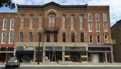 Renovations to the Delphi Opera House were included in the city's Steller efforts. (photo courtesy Anita Werling)