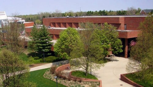 The Whitinger Business Building houses the Miller College of Business and the Indiana Communitites Institute.