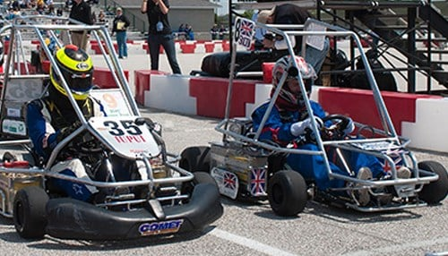 The high school series features 20 electric karts, each developed by a team of 15 or more students.