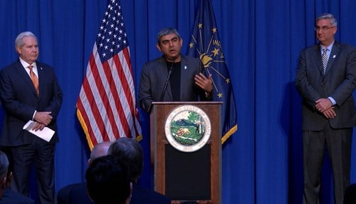 Infosys originally announced its Indiana investment in May.