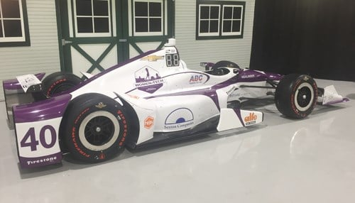 The No. 40 car, driven by Zach Veach for AJ Foyt Racing, will showcase the September Indianapolis Women in Tech LPGA event during the month of May.