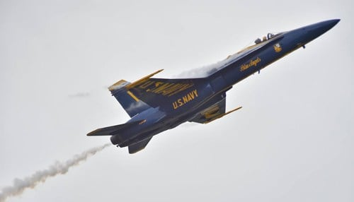 The U.S. Navy Blue Angels were scheduled to perform at the event.