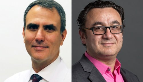Image (left) of Ben Zarzaur provided by Eskenazi Health, image (right) of Malaz Boustani provided by Regenstrief Institute.