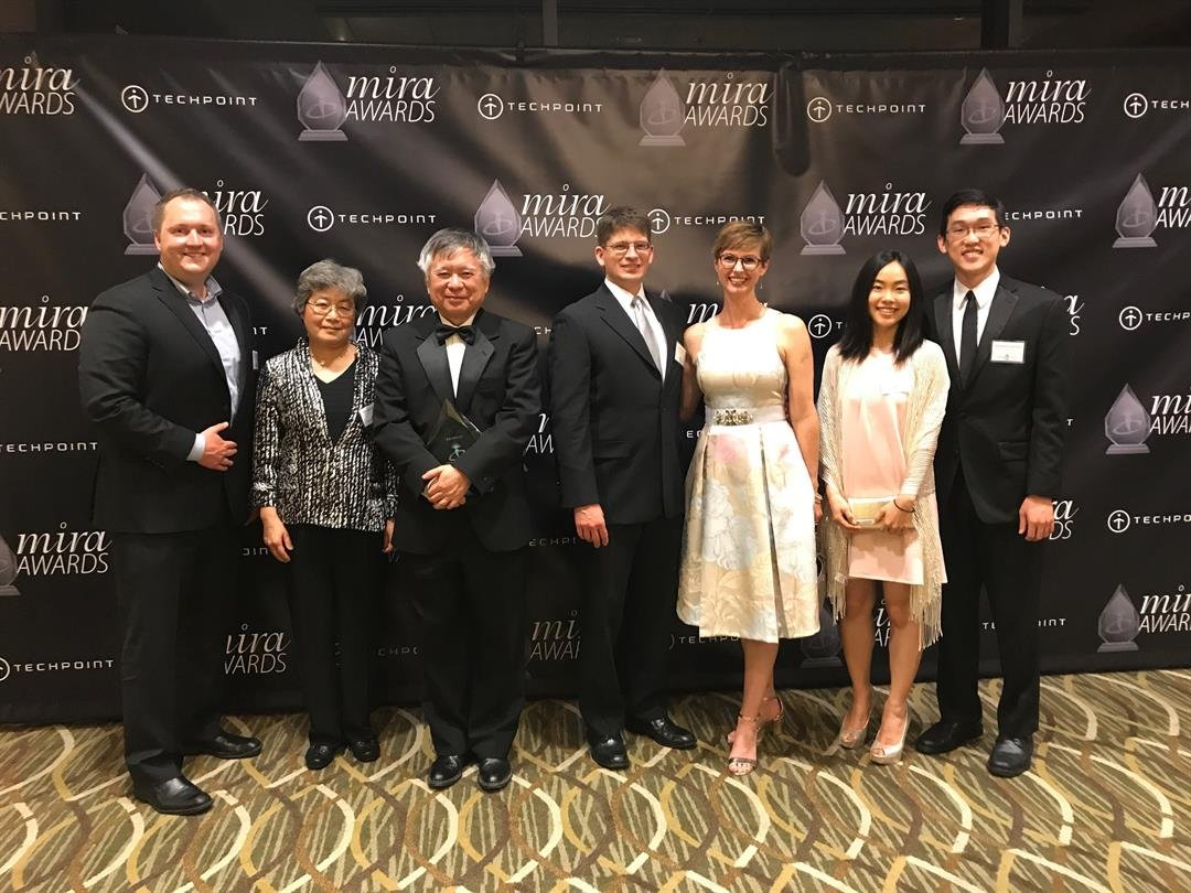 The Arrhythmotech team won Innovation of the Year at TechPoint's Mira Awards.