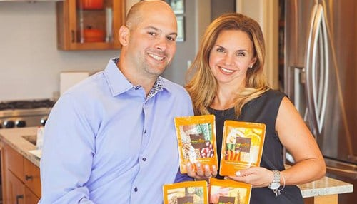 Tony (pictured left) and Julie (pictured right) Bombacino launched Real Food Blends in 2013 following an online crowdfunding campaign.